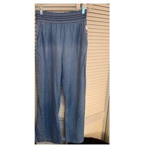 Pants - Denim wide leg pants